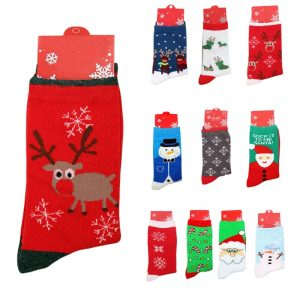Womens Christmas Socks One Size