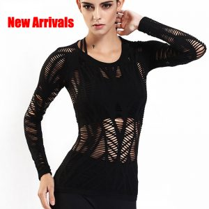 Black Mesh Top – Gym, Fitness, Run, Yoga, Training