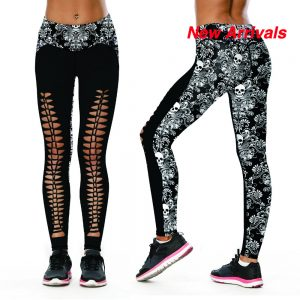 Black & White 3D Fitness Leggings